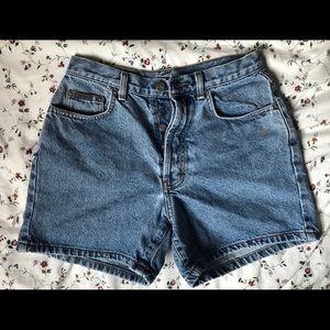Calvin Klein denim high rise shorts